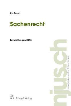 Sachenrecht, Entwicklungen 2013 von Fasel,  Urs