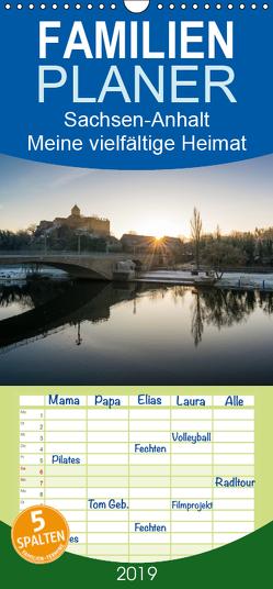 Sachsen-Anhalt – Meine vielfältige Heimat – Familienplaner hoch (Wandkalender 2019 , 21 cm x 45 cm, hoch) von Wasilewski,  Martin