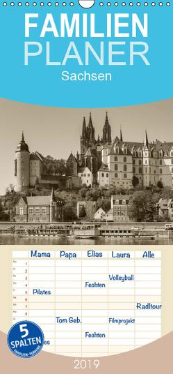 Sachsen – Familienplaner hoch (Wandkalender 2019 , 21 cm x 45 cm, hoch) von Kirsch,  Gunter