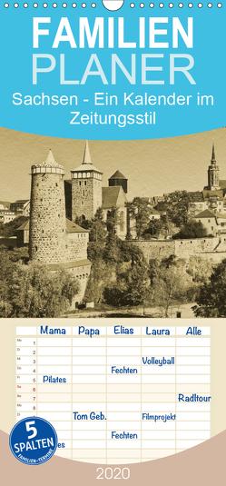 Sachsen – Familienplaner hoch (Wandkalender 2020 , 21 cm x 45 cm, hoch) von Kirsch,  Gunter