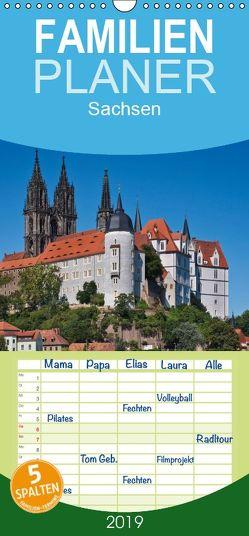 Sachsen, Terminplaner – Familienplaner hoch (Wandkalender 2019 , 21 cm x 45 cm, hoch) von Kirsch,  Gunter