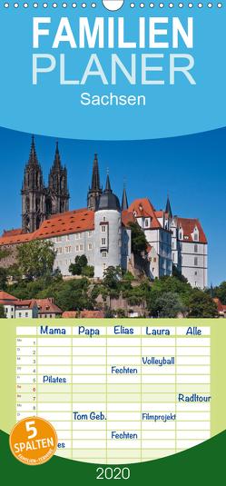 Sachsen, Terminplaner – Familienplaner hoch (Wandkalender 2020 , 21 cm x 45 cm, hoch) von Kirsch,  Gunter