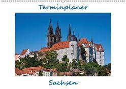 Sachsen, Terminplaner (Wandkalender 2018 DIN A2 quer) von Kirsch,  Gunter