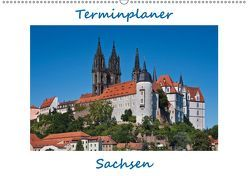 Sachsen, Terminplaner (Wandkalender 2019 DIN A2 quer) von Kirsch,  Gunter