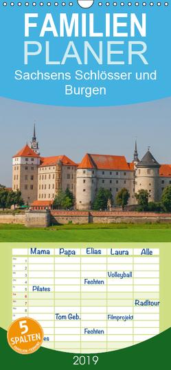 Sachsens Schlösser und Burgen – Familienplaner hoch (Wandkalender 2019 , 21 cm x 45 cm, hoch) von Harriette Seifert,  Birgit