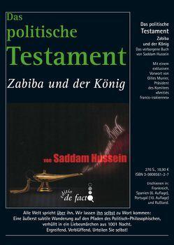 Saddam Hussein: Das politische Testament von Billot,  Michel, Hussein,  Saddam, Munier,  Gilles, Weecke,  Burkhart