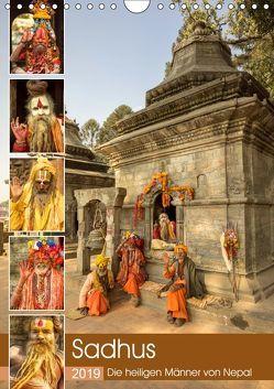 Sadhus – Die heiligen Männer von Nepal (Wandkalender 2019 DIN A4 hoch) von Wenske,  Steffen