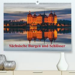 Sächsische Burgen und Schlösser / CH-Version (Premium, hochwertiger DIN A2 Wandkalender 2020, Kunstdruck in Hochglanz) von Kirsch,  Gunter