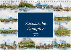 Sächsische Dampfer Aquarelle (Wandkalender 2019 DIN A4 quer) von Meutzner,  Dirk