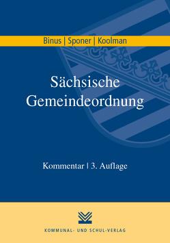 Sächsische Gemeindeordnung von Binus,  Karl H, Koolman,  Sebo, Sponer,  Wolf U