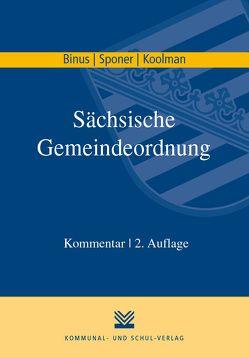 Sächsische Gemeindeordnung von Binus,  Karl H, Sponer,  Wolf U