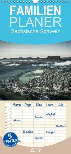 Sächsische Schweiz – Familienplaner hoch (Wandkalender 2019 , 21 cm x 45 cm, hoch) von Kirsch,  Gunter