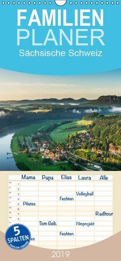 Sächsische Schweiz / Geburtstagsplaner – Familienplaner hoch (Wandkalender 2019 , 21 cm x 45 cm, hoch) von Kirsch,  Gunter