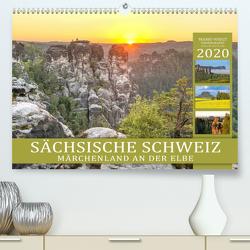 SÄCHSISCHE SCHWEIZ – Märchenland an der Elbe (Premium, hochwertiger DIN A2 Wandkalender 2020, Kunstdruck in Hochglanz) von Weigt Photography,  Mario