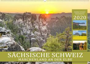 SÄCHSISCHE SCHWEIZ – Märchenland an der Elbe (Wandkalender 2020 DIN A2 quer) von Weigt Photography,  Mario