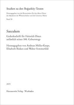 Saeculum von Müller-Karpe,  Andreas, Rieken,  Elisabeth, Sommerfeld,  Walter