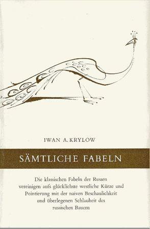 Sämtliche Fabeln von Bächtold,  Rudolf, Krylow,  Iwan A