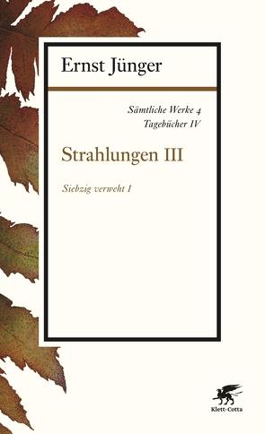 Sämtliche Werke – Band 4 von Jünger,  Ernst
