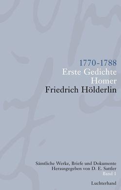 Sämtliche Werke, Briefe und Dokumente. Band 1 von Hölderlin,  Friedrich, Sattler,  D E