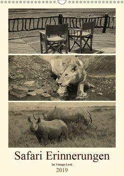 Safari Erinnerungen im Vintage-Look (Wandkalender 2019 DIN A3 hoch) von Michel / CH,  Susan