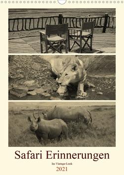 Safari Erinnerungen im Vintage-Look (Wandkalender 2021 DIN A3 hoch) von Michel / CH,  Susan