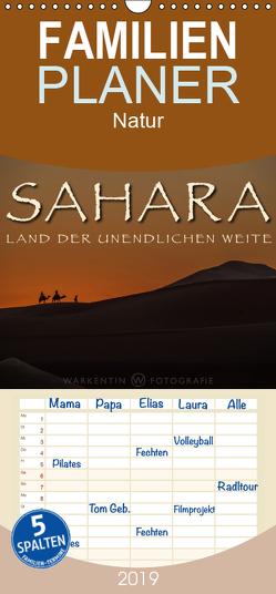 Sahara – Land der unendlichen Weite – Familienplaner hoch (Wandkalender 2019 , 21 cm x 45 cm, hoch) von H. Warkentin,  Karl