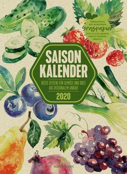 Saisonkalender – Obst & Gemüse – Graspapier-Kalender 2020
