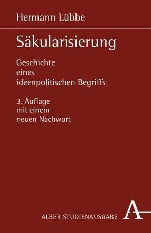 Säkularisierung: von Lübbe,  Hermann