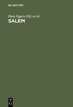SALEM von Eggers,  Hans, Sonderforschungsbereich Elektronische Sprachforschung Saarbrücken / Projektbereich Germanistik