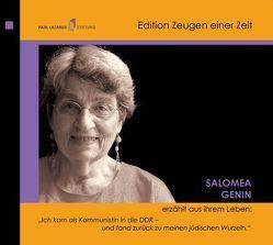 Salomea Genin erzählt aus ihrem Leben (2 CDs) von Diedrich,  Gabriele, Genin,  Salomea