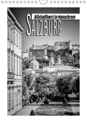 SALZBURG Altstadtherz in Monochrom (Wandkalender 2018 DIN A4 hoch) von Viola,  Melanie