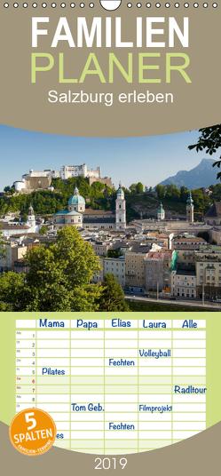 Salzburg erleben – Familienplaner hoch (Wandkalender 2019 , 21 cm x 45 cm, hoch) von Riedmiller,  Andreas