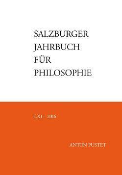 Salzburger Jahrbuch für Philosophie von Bauer,  Emmanuel J., Darge,  Rolf, Pintaric,  Drago, Schmidinger,  Heinrich