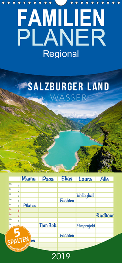 Salzburger Land. Wasser – Familienplaner hoch (Wandkalender 2019 , 21 cm x 45 cm, hoch) von Gospodarek,  Mikolaj