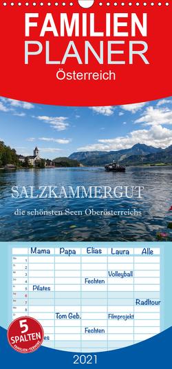 Salzkammergut – Die schönsten Seen Oberösterreichs – Familienplaner hoch (Wandkalender 2021 , 21 cm x 45 cm, hoch) von Pfleger,  Hans