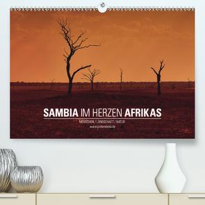 SAMBIA IM HERZEN AFRIKAS (Premium, hochwertiger DIN A2 Wandkalender 2021, Kunstdruck in Hochglanz) von Esch,  Jens