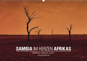SAMBIA IM HERZEN AFRIKAS (Wandkalender 2021 DIN A2 quer) von Esch,  Jens