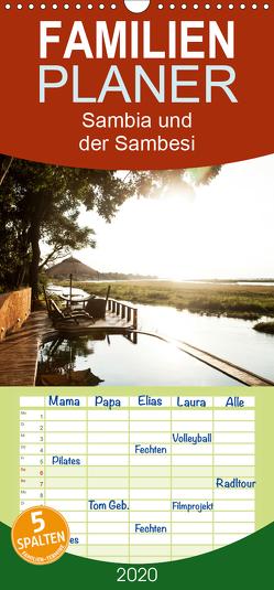 Sambia und der Sambesi – Familienplaner hoch (Wandkalender 2020 , 21 cm x 45 cm, hoch) von slusarcik photography (dsp),  daniel