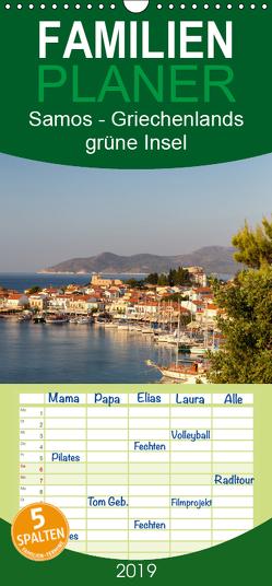 Samos – Griechenlands grüne Insel – Familienplaner hoch (Wandkalender 2019 , 21 cm x 45 cm, hoch) von Klinder,  Thomas