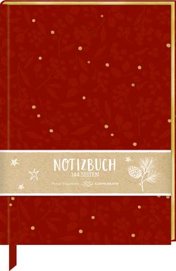 Samt-Notizbuch – Beeren & Blätter
