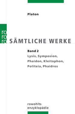 Sämtliche Werke 2 von Platon, Schleiermacher,  Friedrich, Wolf,  Ursula