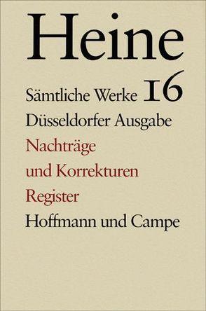 Sämtliche Werke. Historisch-kritische Gesamtausgabe der Werke. Düsseldorfer Ausgabe von Heine,  Heinrich, Windfuhr,  Manfred