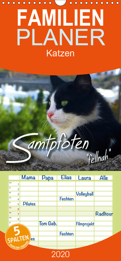 """SAMTPFOTEN """"fellnah"""" – Familienplaner hoch (Wandkalender 2020 , 21 cm x 45 cm, hoch) von Bleicher,  Renate"""