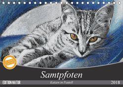 Samtpfoten – Katzen in Pastell (Tischkalender 2018 DIN A5 quer) von Felix,  Uschi