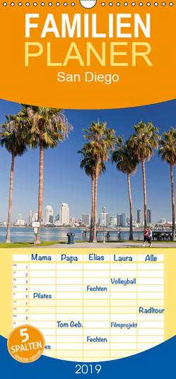 San Diego – Familienplaner hoch (Wandkalender 2019 , 21 cm x 45 cm, hoch) von Schickert,  Peter