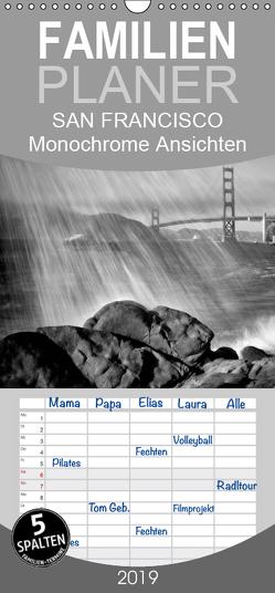 SAN FRANCISCO Monochrome Ansichten – Familienplaner hoch (Wandkalender 2019 , 21 cm x 45 cm, hoch) von Viola,  Melanie