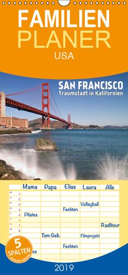 San Francisco – Traumstadt in Kalifornien – Familienplaner hoch (Wandkalender 2019 , 21 cm x 45 cm, hoch) von Viola,  Melanie