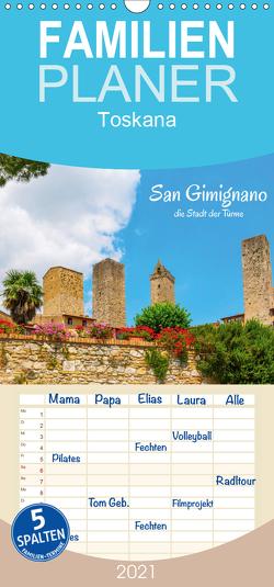 San Gimignano, die Stadt der Türme – Familienplaner hoch (Wandkalender 2021 , 21 cm x 45 cm, hoch) von Müller,  Christian