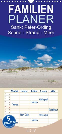 Sankt Peter-Ording. Sonne – Strand – Meer – Familienplaner hoch (Wandkalender 2019 , 21 cm x 45 cm, hoch) von Reuke,  Sabine