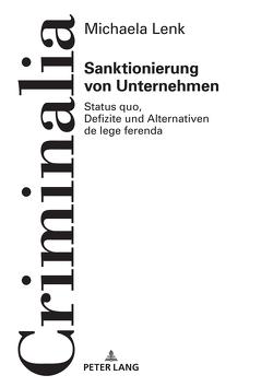 Sanktionierung von Unternehmen von Lenk,  Michaela